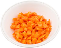 Small Dice Cut Carrot I Stock Photography