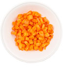 Small Dice Cut Carrot II Royalty Free Stock Images