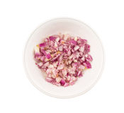 Small Dice Style Chopped Onion I Royalty Free Stock Photo