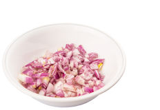 Small Dice Style Chopped Onion IV Royalty Free Stock Photography