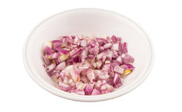 Small Dice Style Chopped Onion V Stock Photography