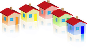 Small different houses Royalty Free Stock Image