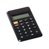 Small digital calculator. Small black digital calculator isolated on white Stock Photos
