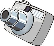 Small digital photo camera Royalty Free Stock Photography