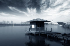Small dilapidated pier Royalty Free Stock Photo