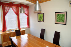 Small dining. A bright , clean and small dining room Stock Image