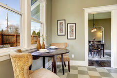 Small dining area in kitchen room Royalty Free Stock Images