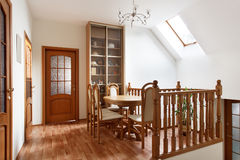 Small dining room in mansion Royalty Free Stock Image