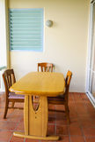 Small dining table Stock Image