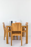 Small dinning table set Royalty Free Stock Photography