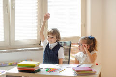 Small disciples at a lesson. Royalty Free Stock Photography