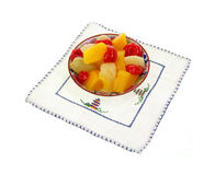 Small Dish Fruit Embroided Mat Stock Images