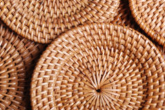 Small dishes of bamboo Royalty Free Stock Images
