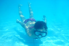 Small diver girl Royalty Free Stock Photos
