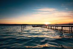 Free Small Dock And Boat At The Lake Stock Image - 174242281