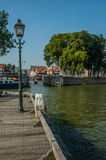 Small dock with boats in Hoom. Netherlands Stock Image