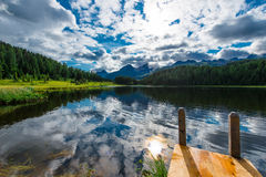 Small dock on  lake Stock Photography