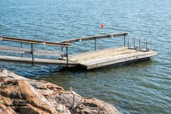 A small dock for swimming Royalty Free Stock Photos