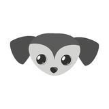 Small dog face gray pet icon Royalty Free Stock Photos