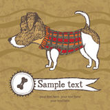 Small dog terrier card Stock Image