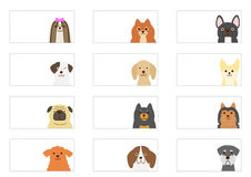 Small dogs banner set Stock Photography