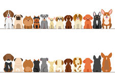 Small dogs border set Royalty Free Stock Photography