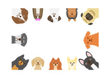 Small dogs rectangle frame Stock Images