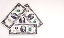 Small dollar bills Royalty Free Stock Photos