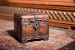 Small dower chest, retro vintage style. Closed Stock Photography