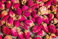 Small dried tea rose buds Royalty Free Stock Photography