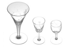 Small drinking glasses Stock Image