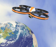 Small drone - Elements of this image furnished by NASA Stock Images