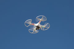 Small drone on the sky. Royalty Free Stock Photo