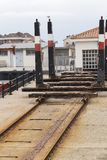 Small dry dock. Small dry dry dock in a fishing port Royalty Free Stock Photo