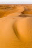 Small dunes. Small sand dunes in the desert leading into the distance royalty free stock photos