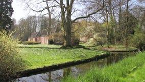 Small Dutch castle. Near Utrecht stock video