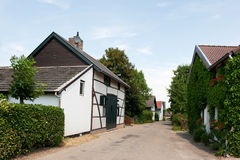 Small Dutch village. With typical timbered houses in Limburg stock photography