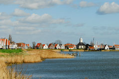 A small dutch village. Near amsterdam in the netherlands called Durgerdam stock photo