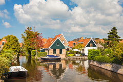 The small Dutch village of Hindeloopen Royalty Free Stock Image