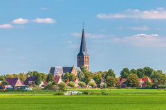 Small Dutch village in the province of Friesland Royalty Free Stock Photo
