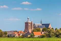 Small Dutch village in the province of Friesland Stock Photography
