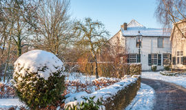 Small Dutch village in wintertime Stock Image