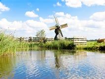 Small dutch windmill Stock Photo