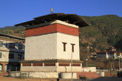 Small dzong in Paro Valley, Bhutan. Small dzong near of Paro Valley, Bhutan Stock Photo