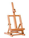Small easel. Small wooden easel on white background Stock Image