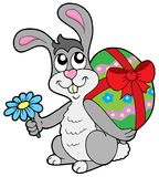 Small Easter bunny with egg Royalty Free Stock Photo