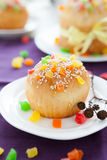 Small Easter cake on the background homemade pastries Royalty Free Stock Images