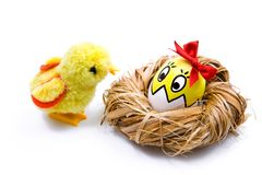 Small easter chick Royalty Free Stock Images