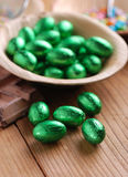 Small easter eggs in bowl Royalty Free Stock Image