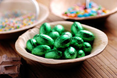 Small easter eggs in bowl Royalty Free Stock Photos